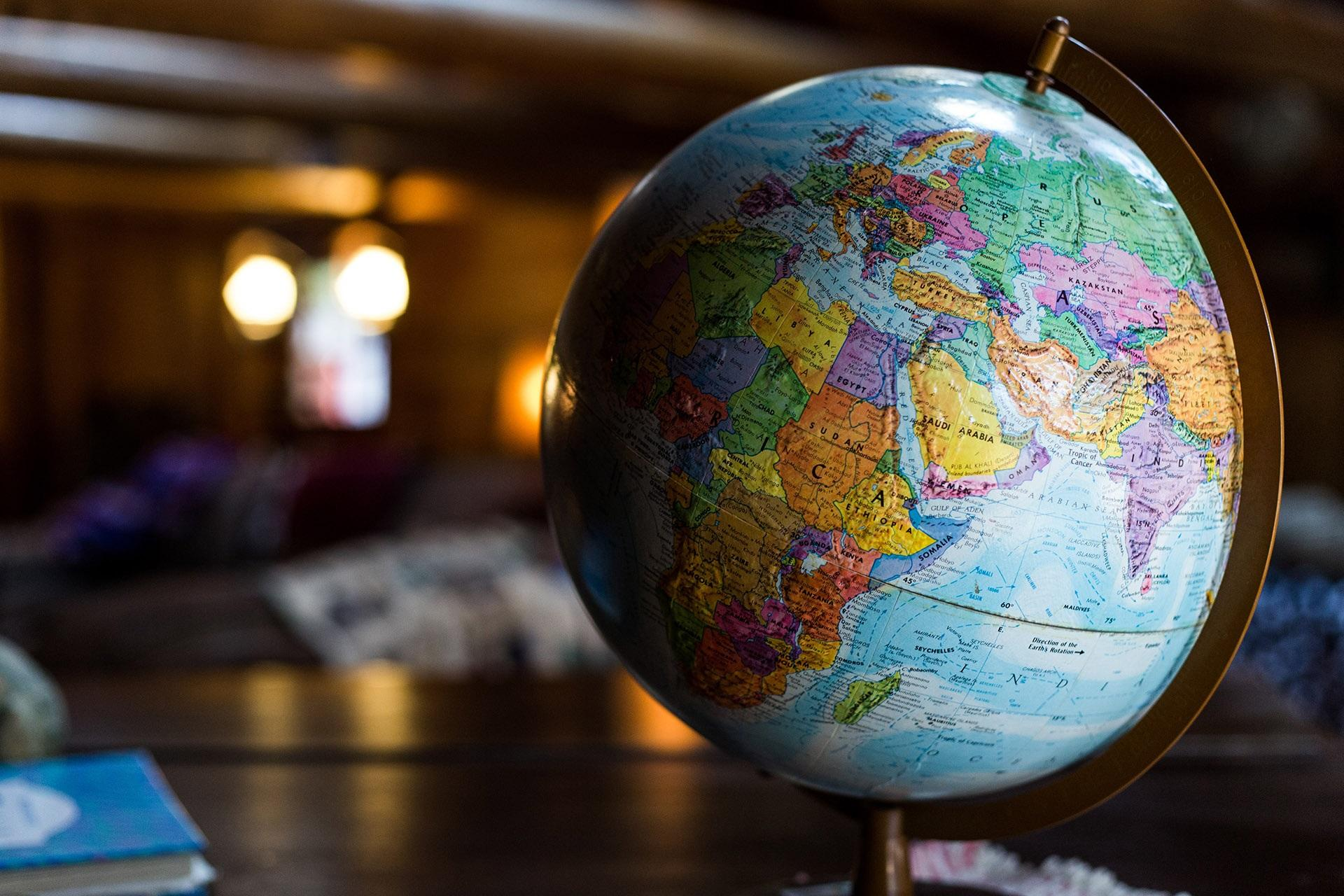 globe africa and europe