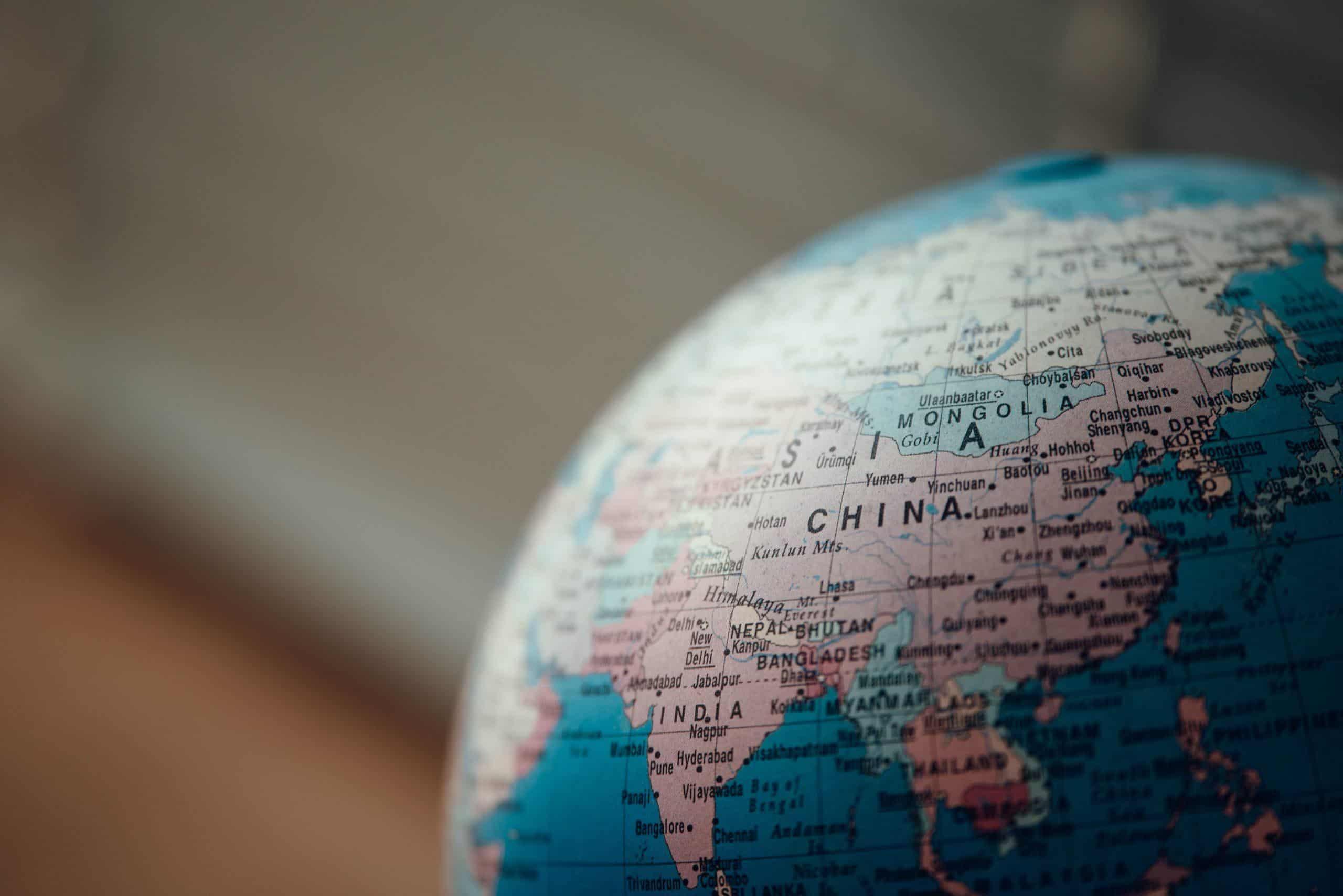 globe china mongolia
