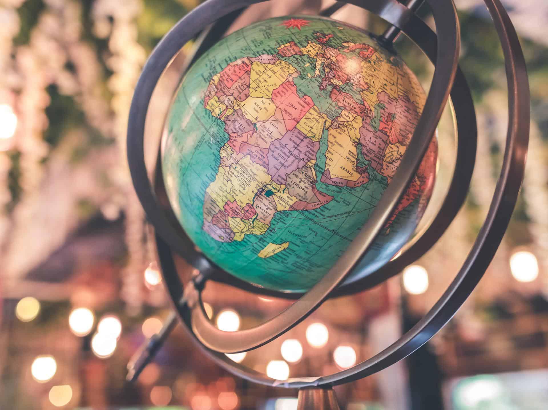 africa asia globe
