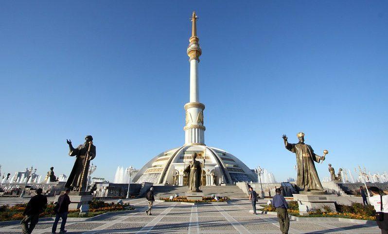 ashgabat statues monument architecture