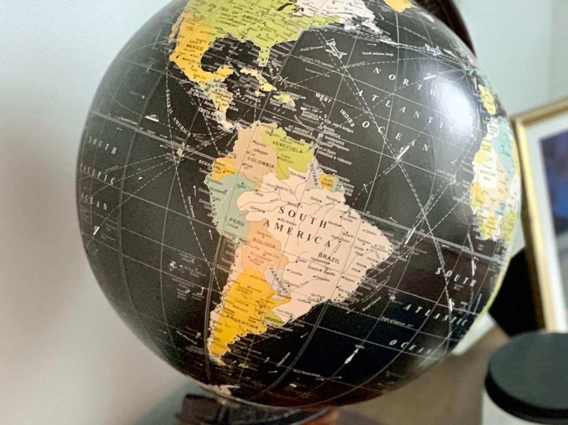 globe america south