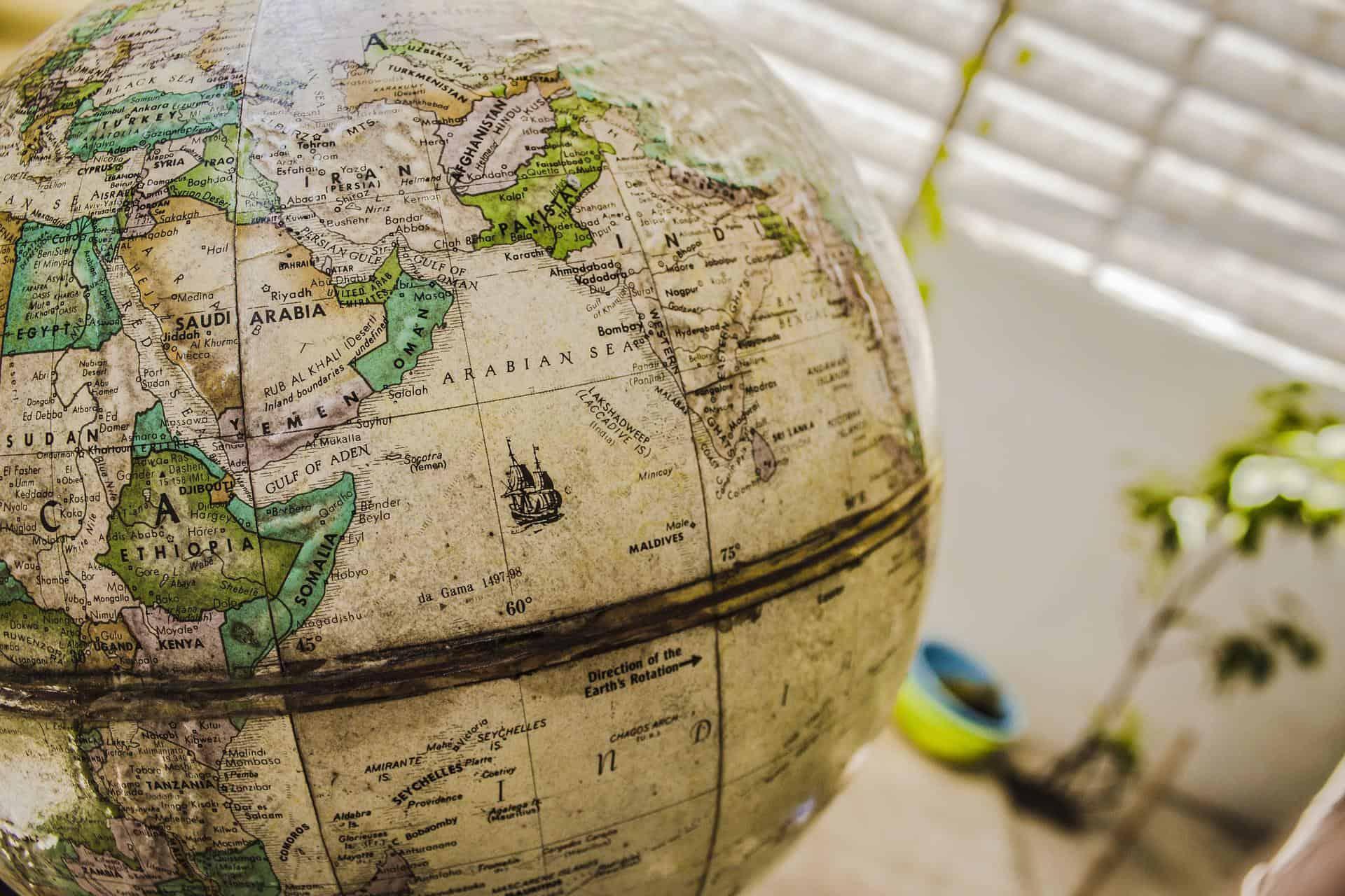 globe of africa