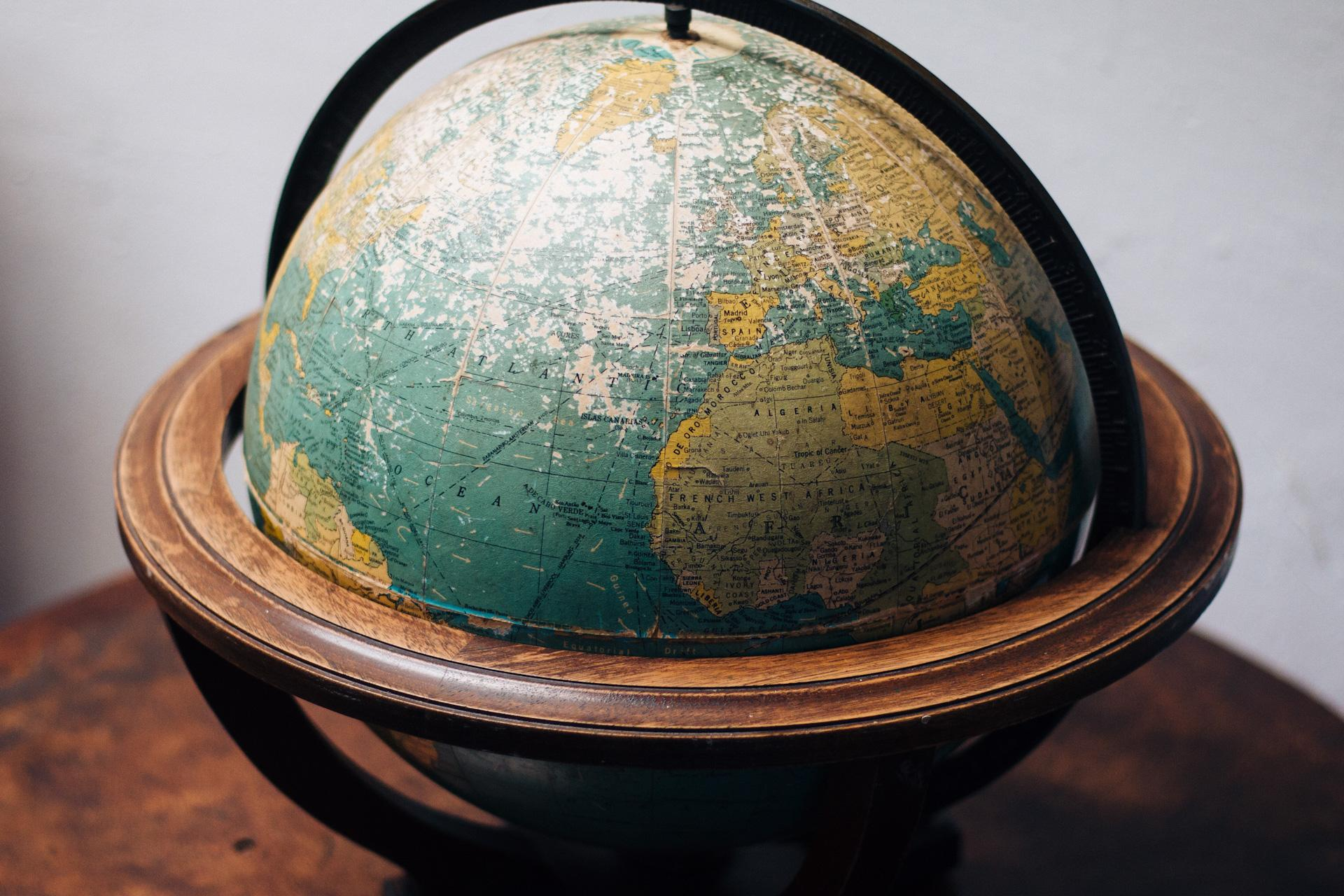 globe of africa and europe