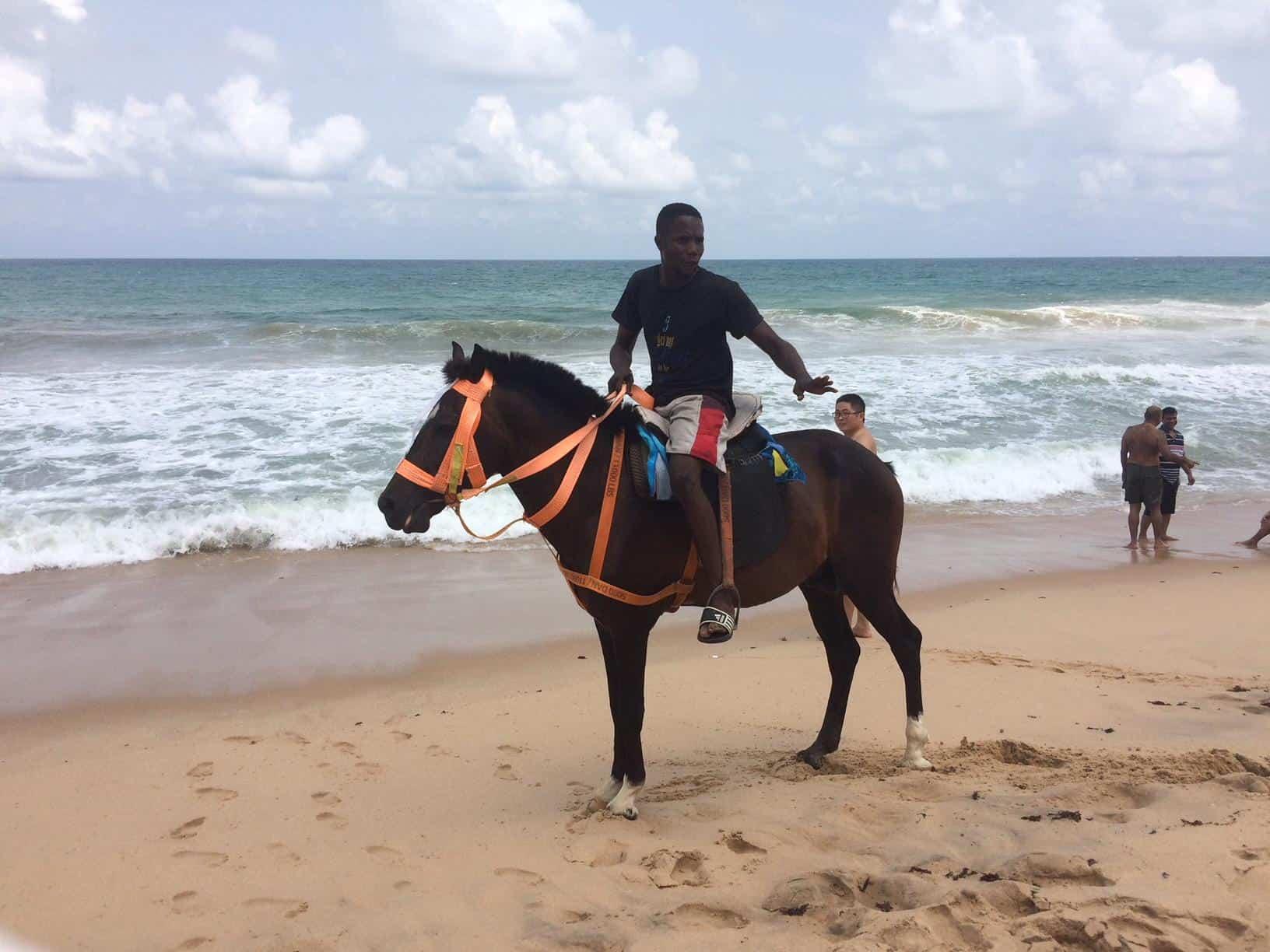 horse rider eleko beach lagos