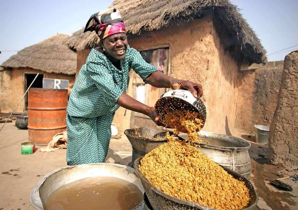 women africa village