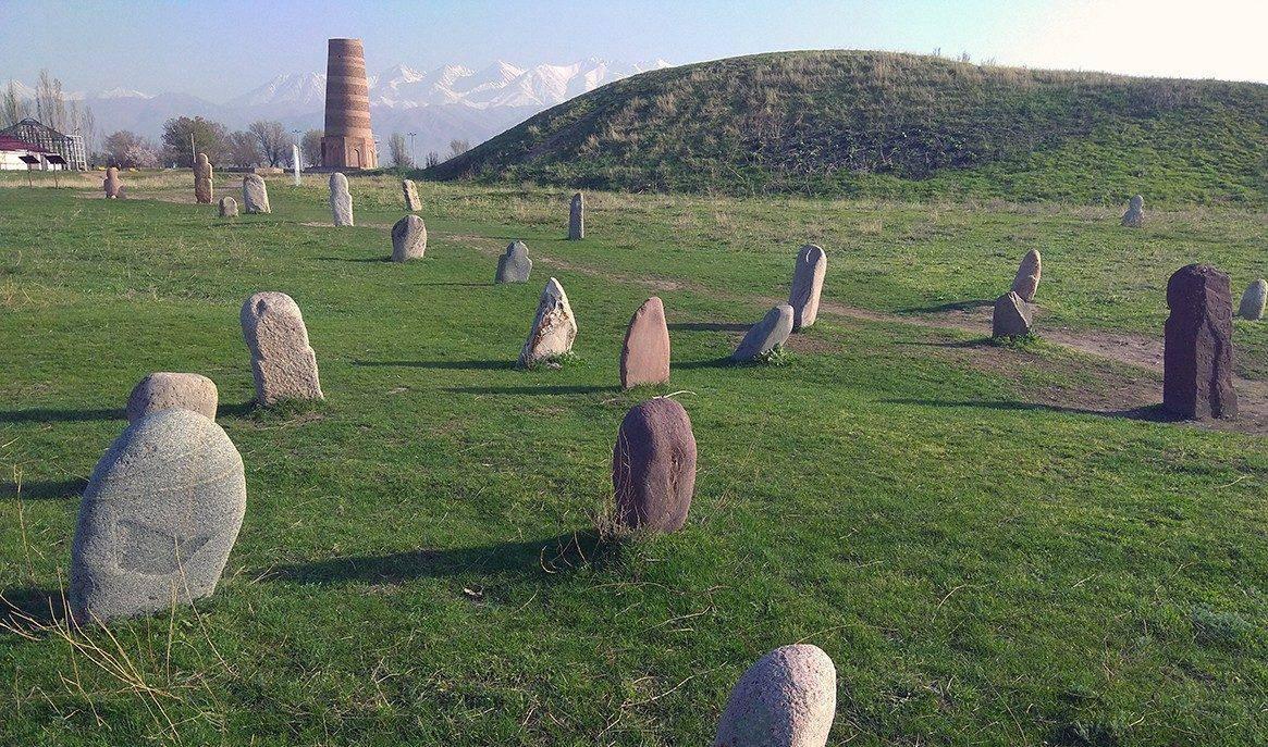kyrgyzstan burana tower stones