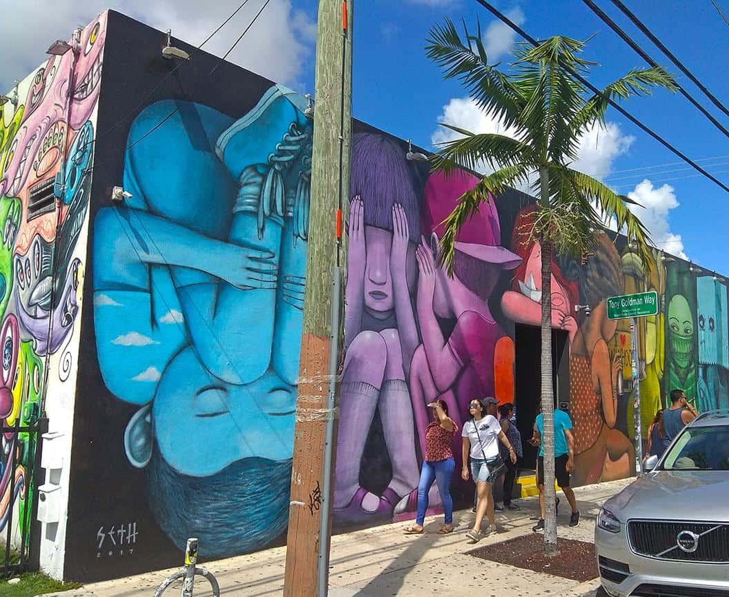 miami wynwood street art colorful kids