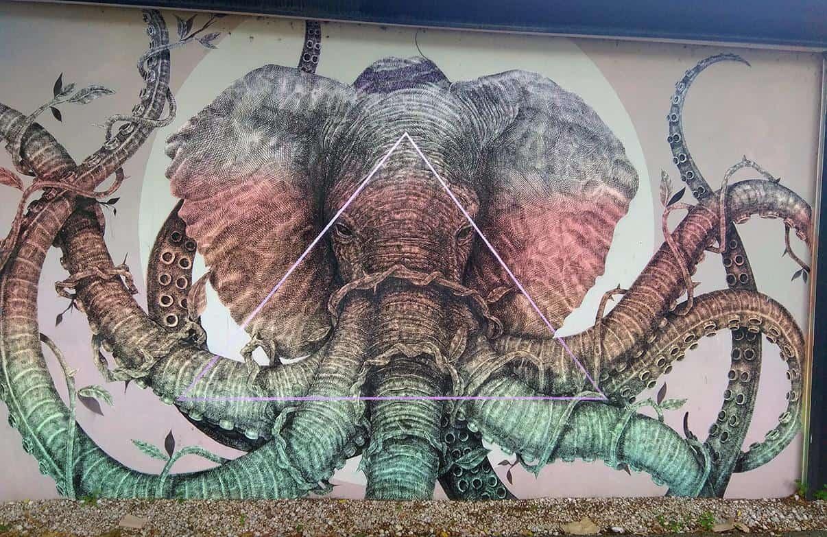 miami wynwood street art elephant