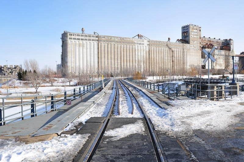 montreal quebeq canada silo winter