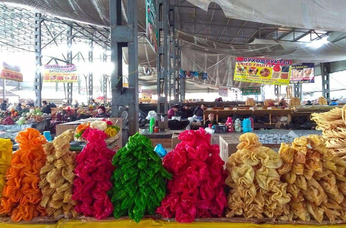 osh market bishkek kyrgyzstan colorful sweets