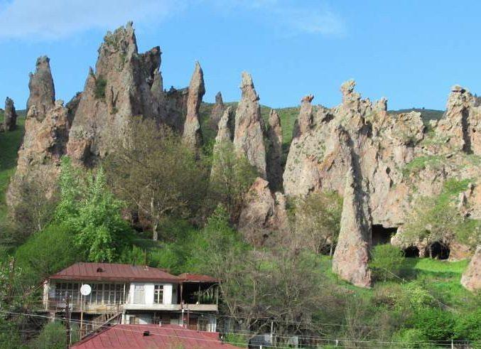 goris armenia volcanic chimneys 1