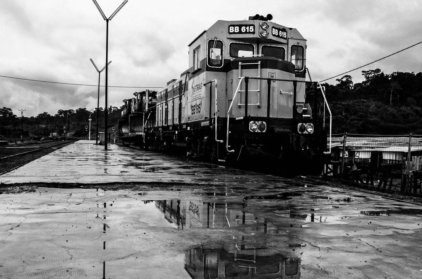 gabon train blackandwhite