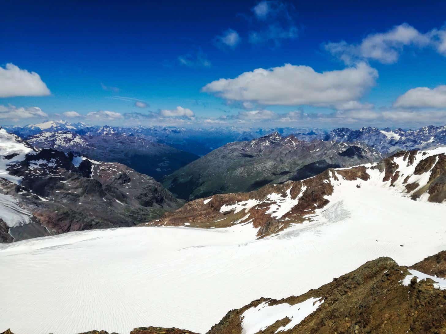 italy alps cima vioz peak