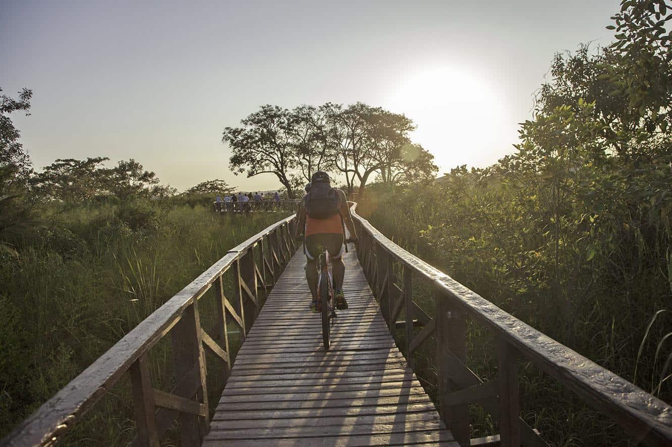 guayaquil ecuador santay island pathway
