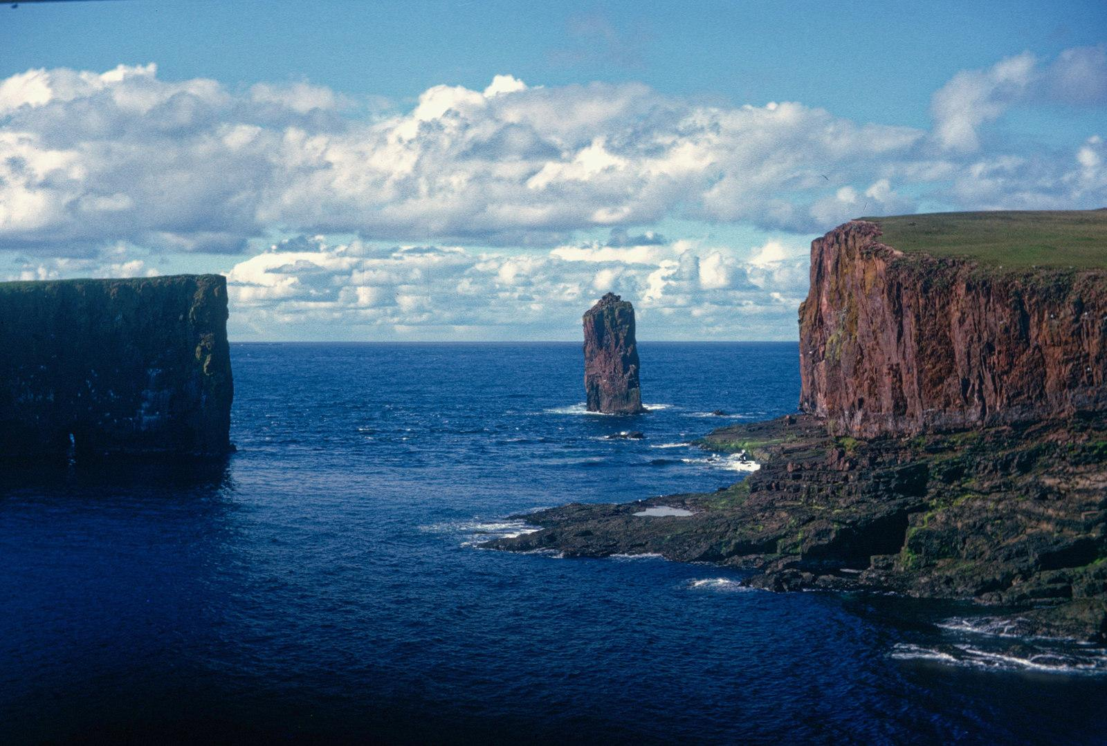 uk scotland papa stour shoreline