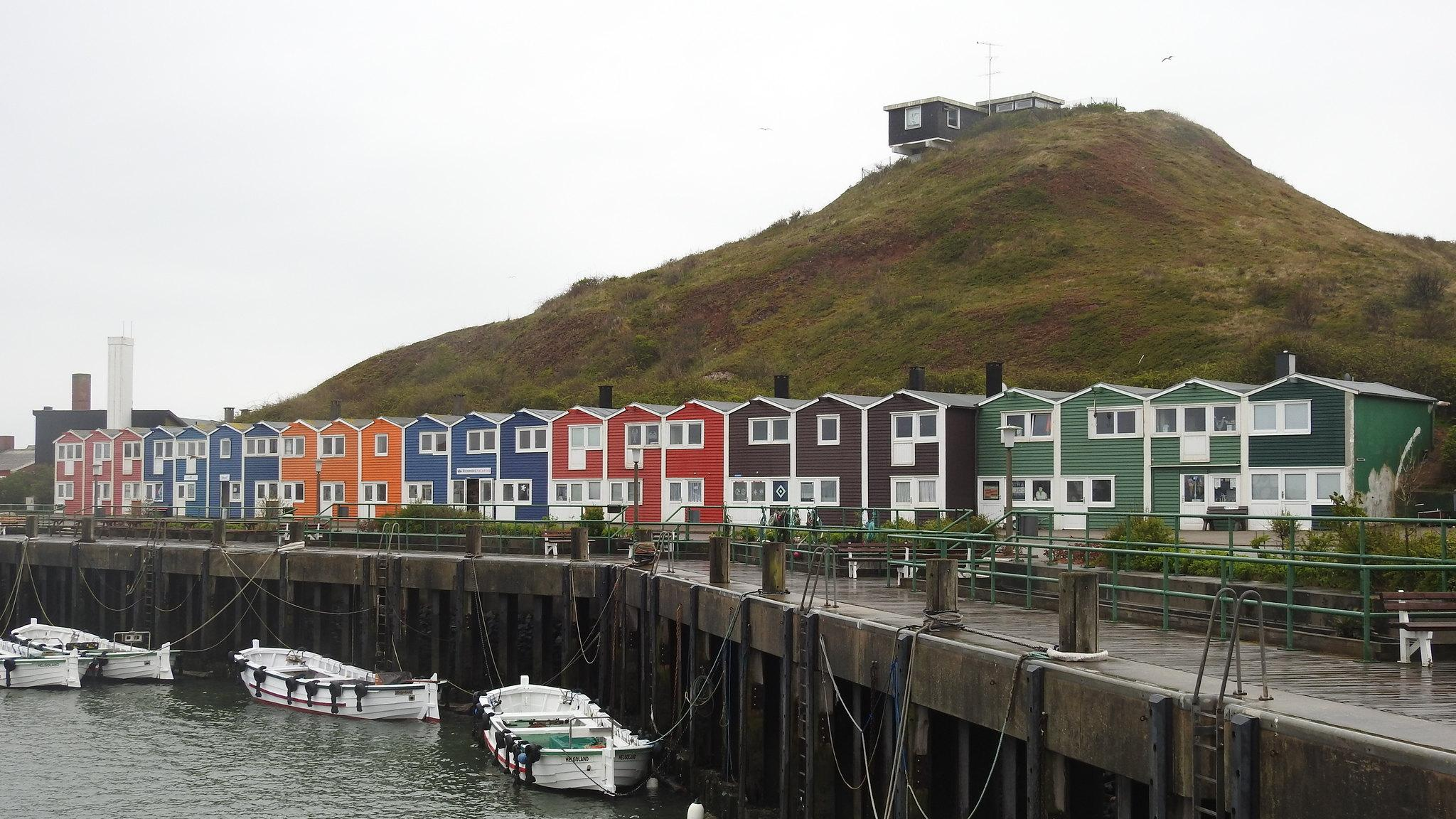 helgoland germany colorful houses