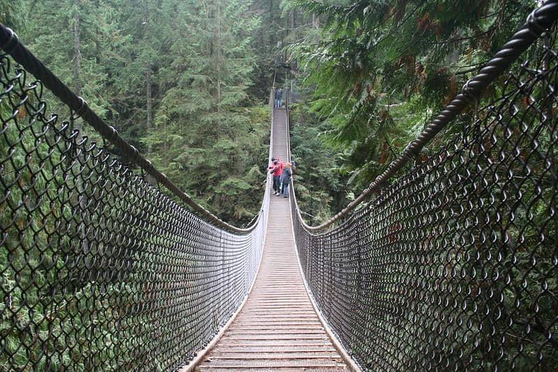 vancouver british columbia canada lynn canyon suspension bridge