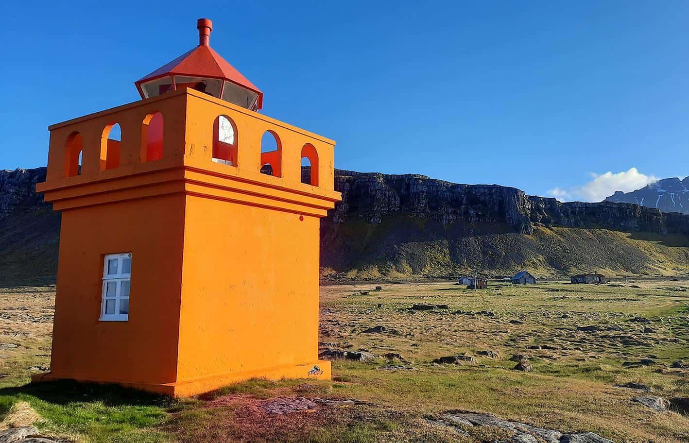 hafnarnes iceland lighthouse village